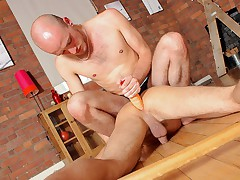 Lucas Davidson gets anally abused and juicer in! - Lucas Davidson Enlargened by Kiron Knight